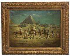 ARABIAN LANDSCAPE -French School - Italian Oil on canvas Painting