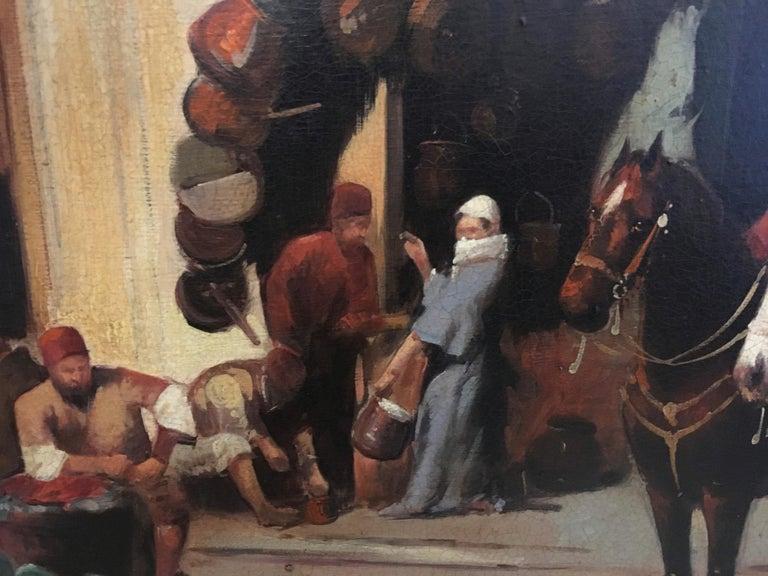 ARABIAN SCENE - Italian oil on canvas painting, Francoise Vigneron For Sale 2