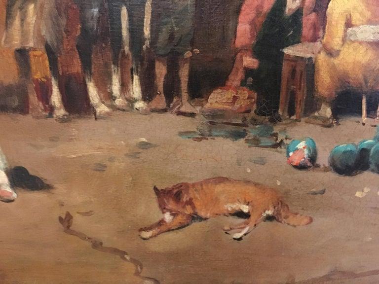 ARABIAN SCENE - Italian oil on canvas painting, Francoise Vigneron For Sale 3