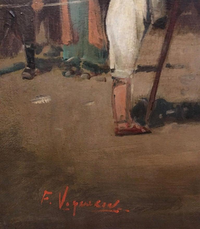 ARABIAN SCENE - Italian oil on canvas painting, Francoise Vigneron For Sale 4