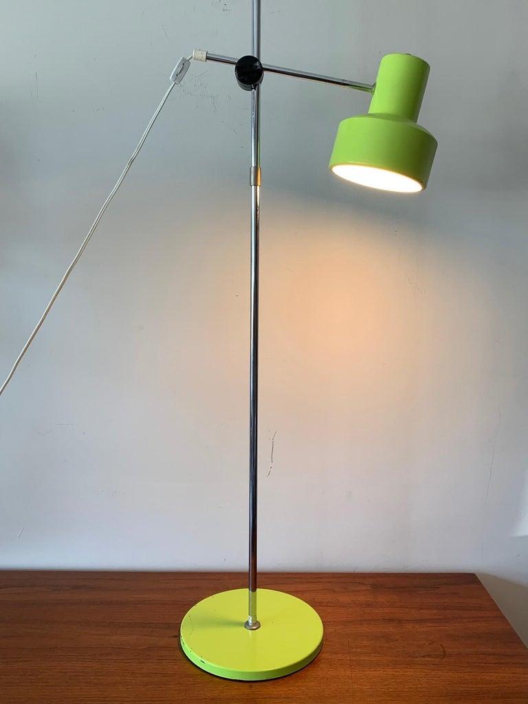 Frandsen Danish Floor Lamp, circa 1970s In Good Condition For Sale In St.Petersburg, FL