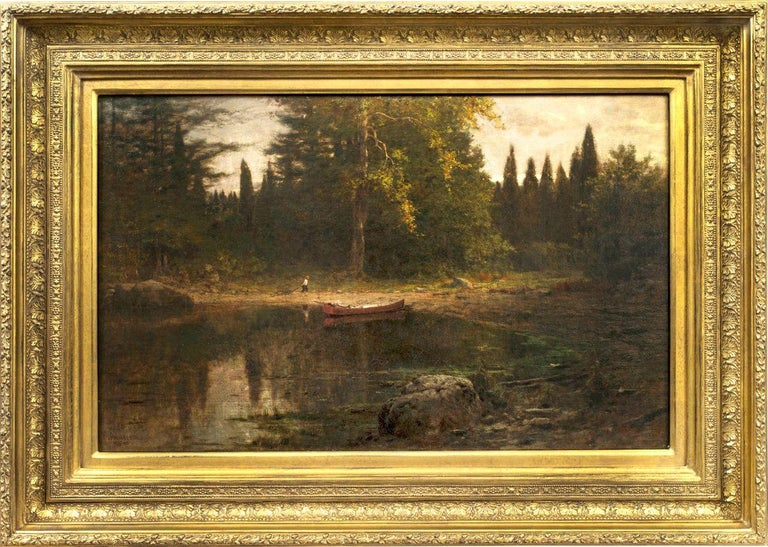 Evening, 1885, Hudson River School work by Frank Anderson (American, 1844-1891) For Sale 1
