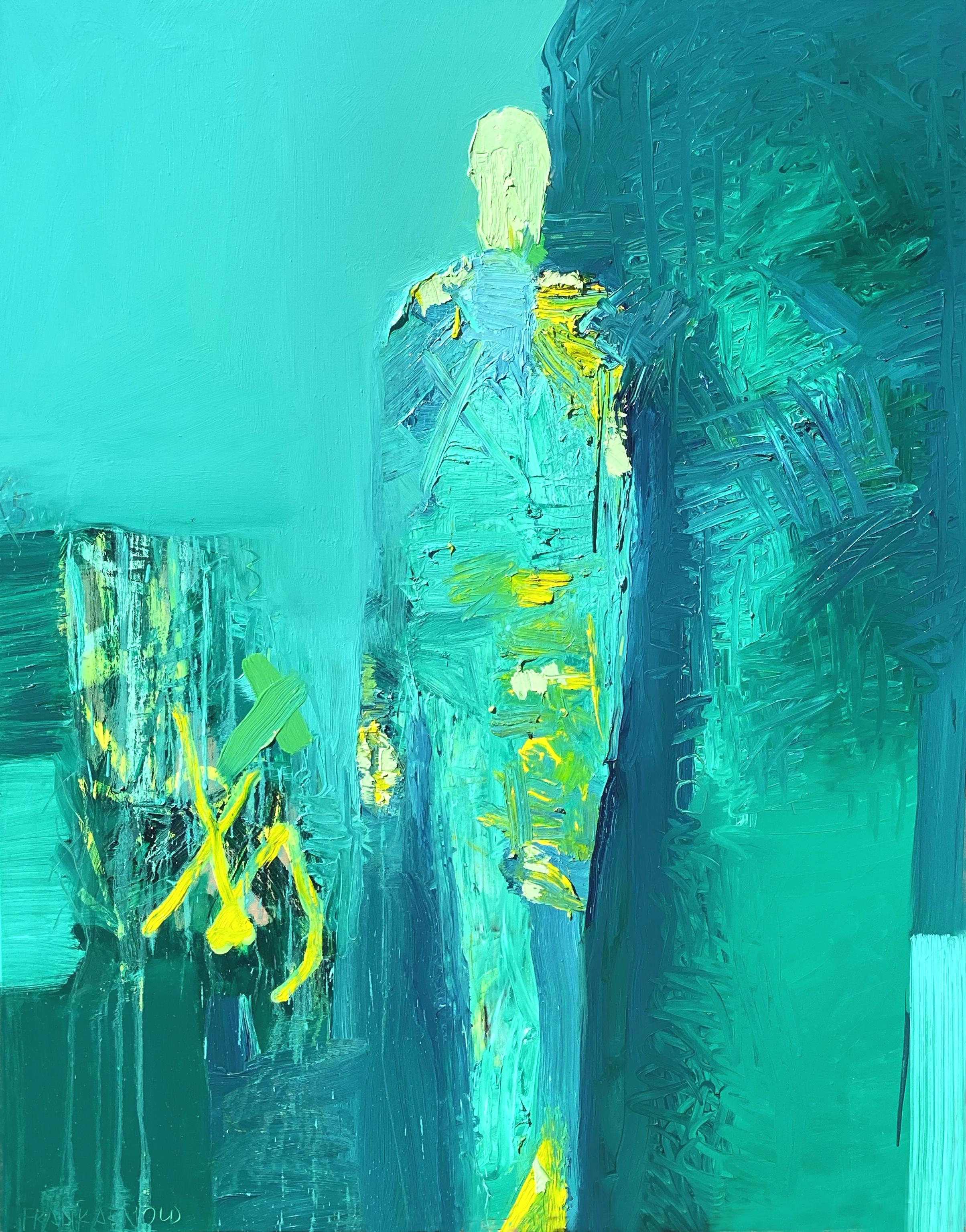 """Oil on Canvas """"2X8"""" by abstract-figurative artist, Frank Arnold"""