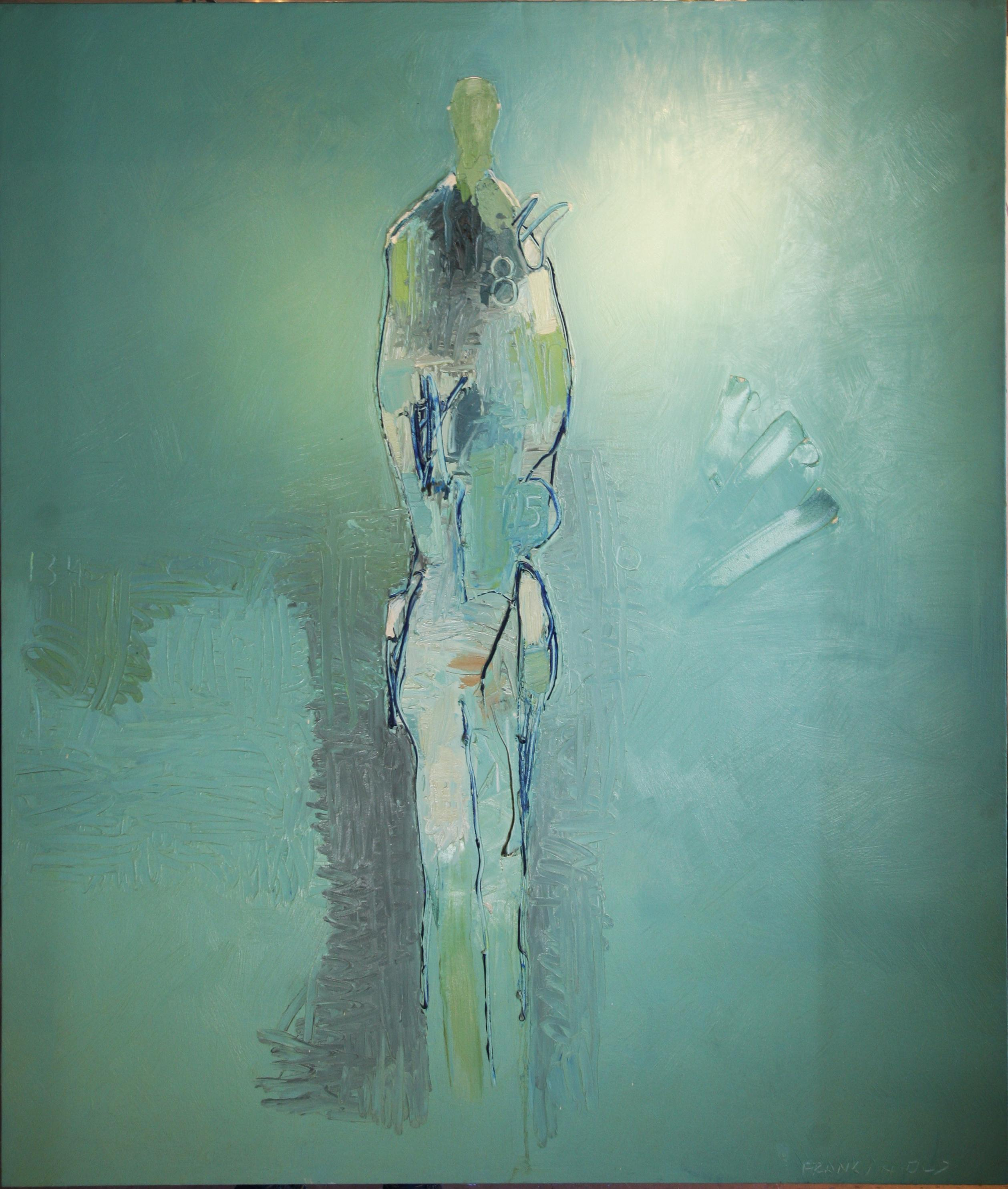 """Oil on Canvas """"850"""" by abstract-figurative artist, Frank Arnold"""