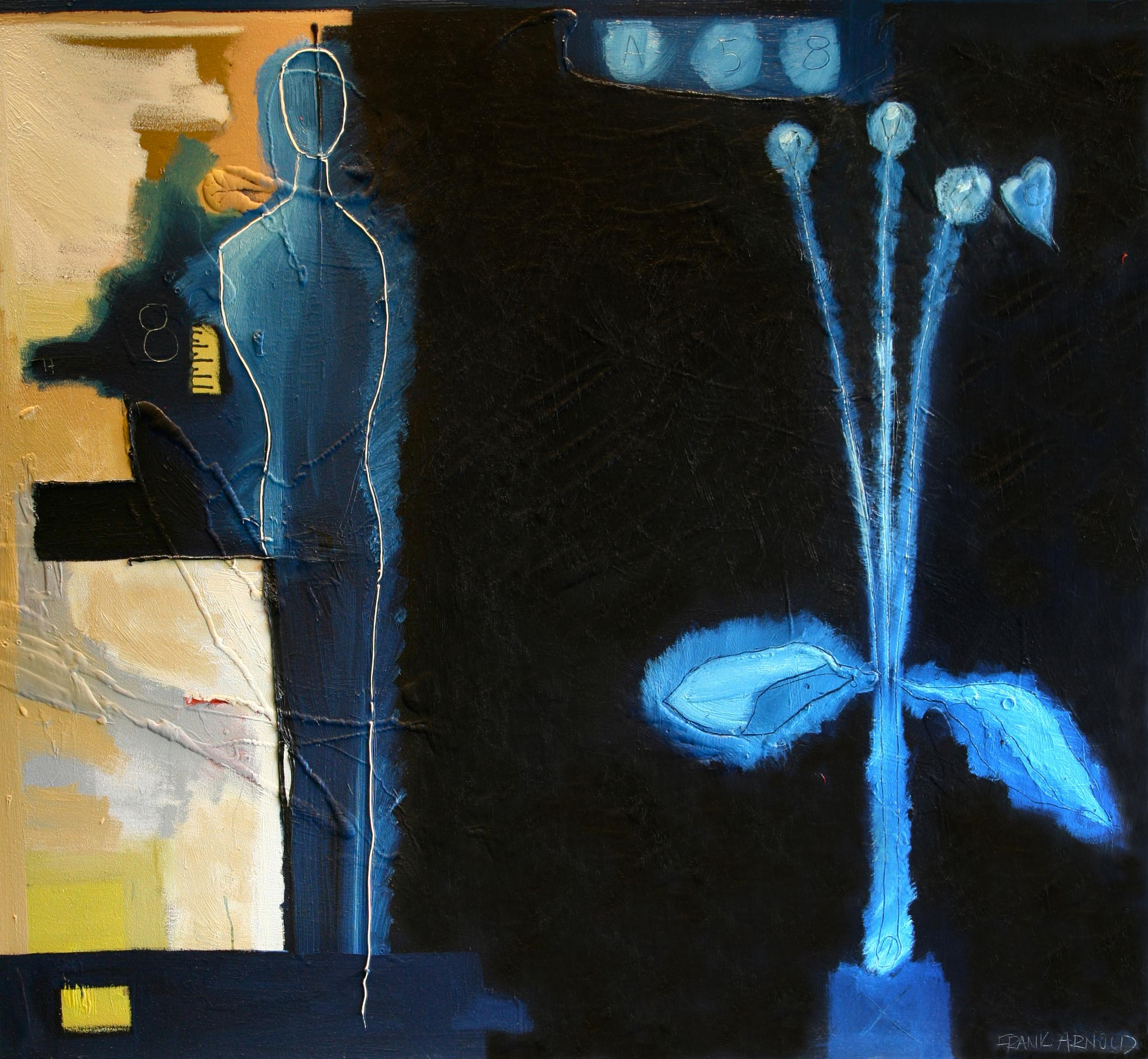 """Oil on Canvas """"A58"""" by abstract-figurative artist, Frank Arnold"""