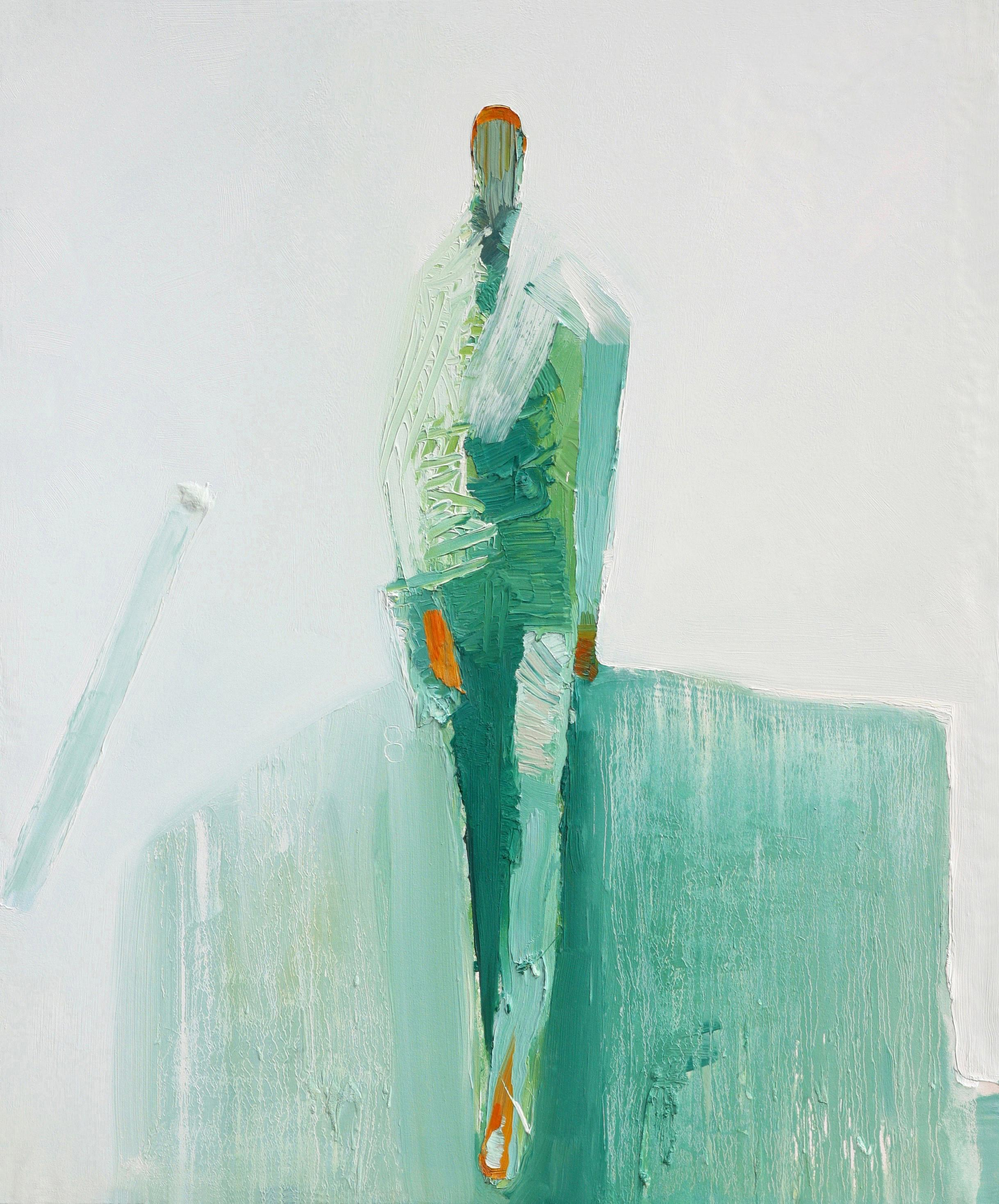 """Oil on Canvas """"Arroyo New"""" by abstract-figurative artist, Frank Arnold"""