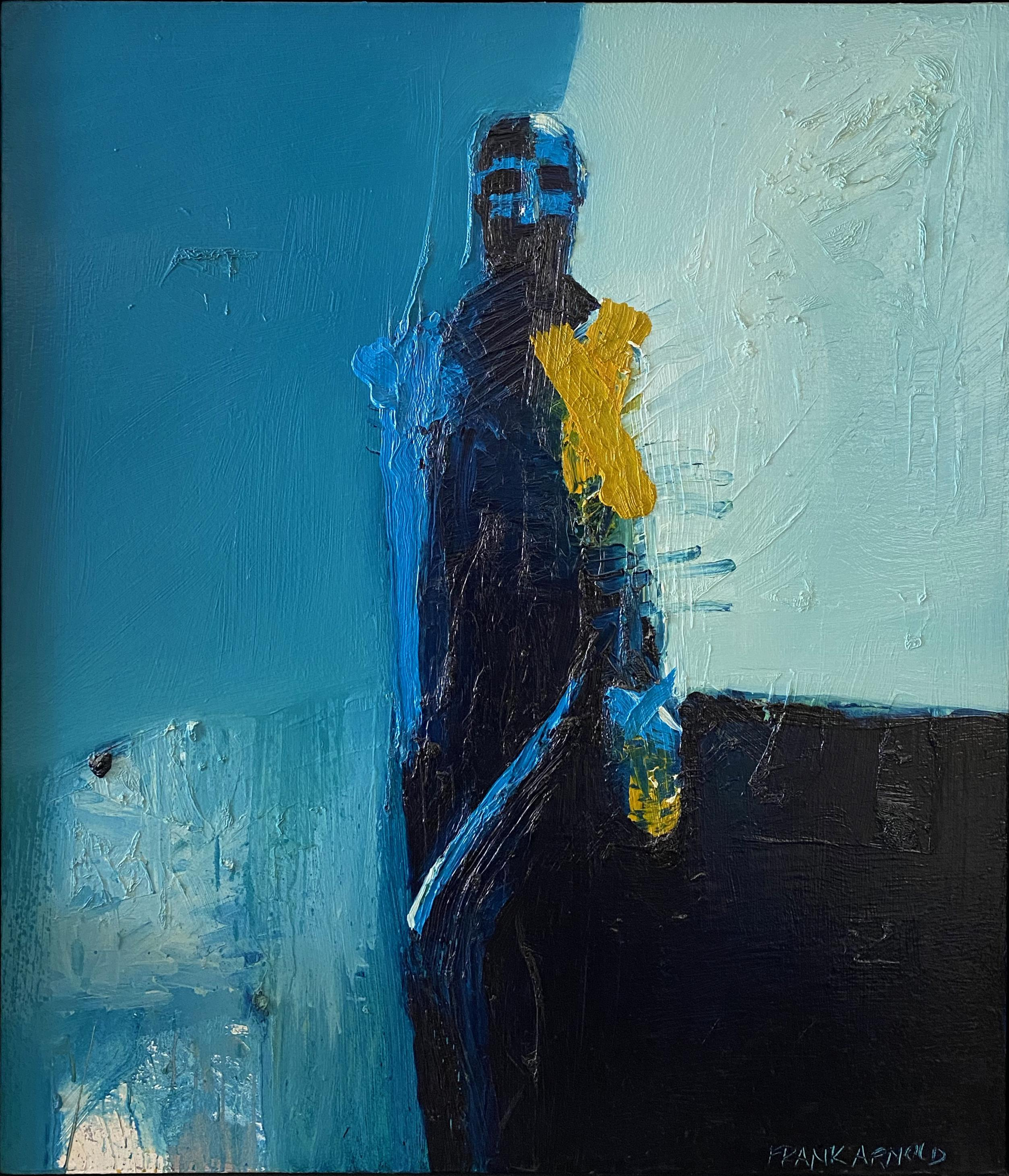 """Oil on Canvas """"Cabo Azul 3"""" by abstract-figurative artist, Frank Arnold"""