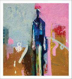 """Blue Man"" •  Fine Art Canvas Wrap of Frank Arnold Painting"