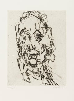 Ruth -- Print, Etching, Portrait, Contemporary Art by Frank Auerbach