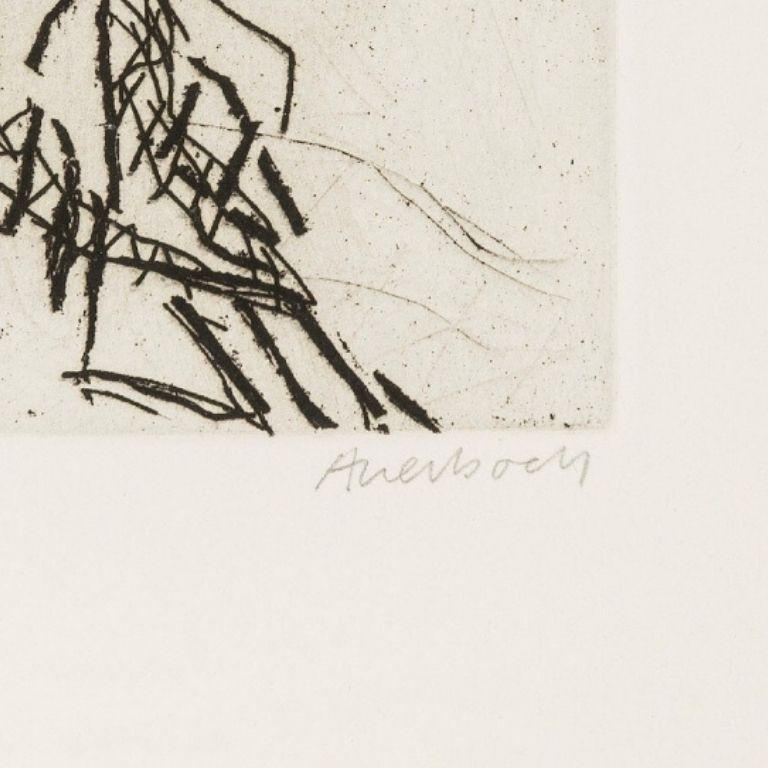 Ruth -- Print, Etching, Portrait, Contemporary Art by Frank Auerbach 1