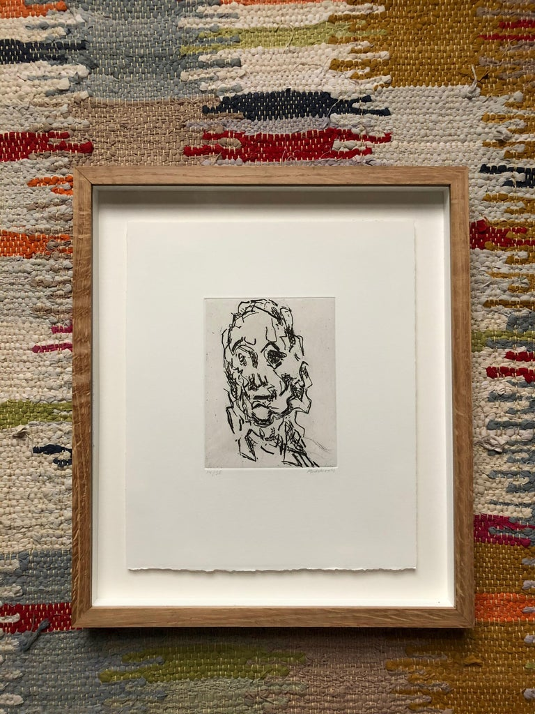Ruth -- Print, Etching, Portrait, Contemporary Art by Frank Auerbach 3