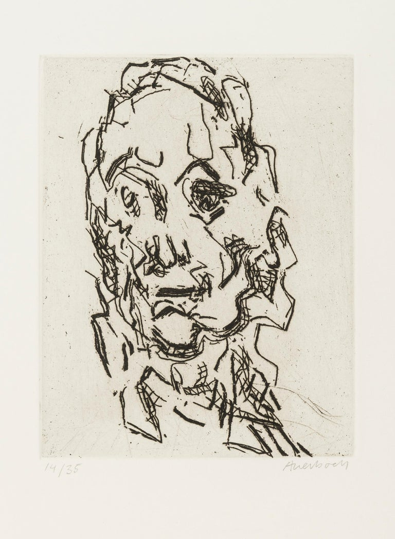 FRANK AUERBACH Ruth, 2001-2  Etching printed with tone, on Somerset white paper Signed and numbered from the edition of 35 Printed by Mark Balakjian and Dorothea Wight at Studio Prints, London Published by Marlborough Graphics, London Plate: 14.6 x