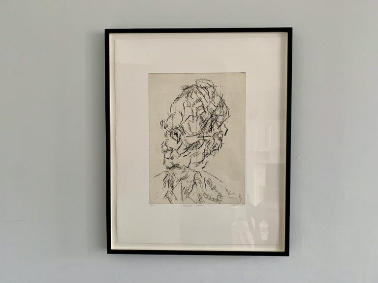 William Feaver: A limited edition print by Frank Auerbach For Sale 1