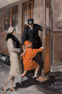 Catching the Train, 1928