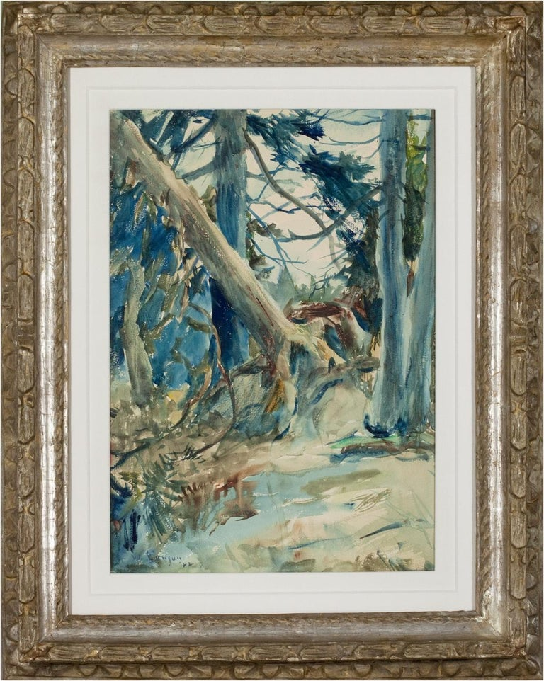 Forest Interior - Painting by Frank Benson