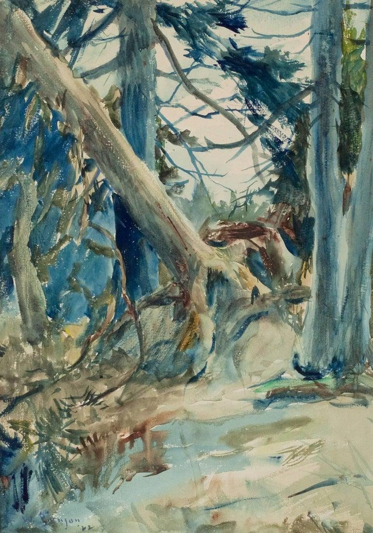 Frank Benson Landscape Painting - Forest Interior
