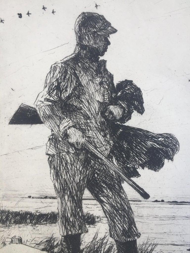 WINTER WILDFOWLING - Impressionist Print by Frank Benson