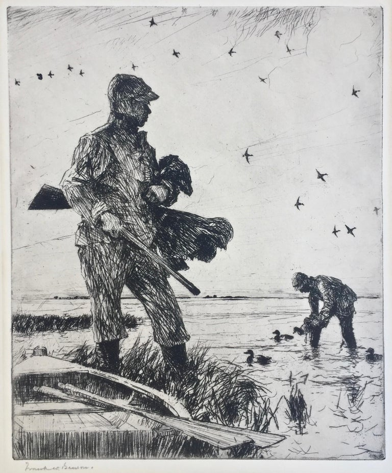 Frank Benson Figurative Print - WINTER WILDFOWLING