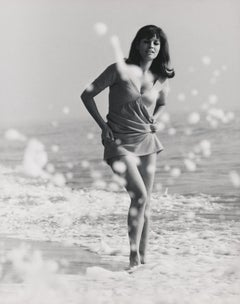 Raquel Welch in the Ocean Fine Art Print