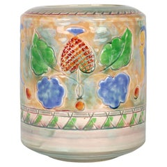 Frank Brangwyn Royal Doulton Arts & Crafts Leaf And Berry Art Pottery Vase