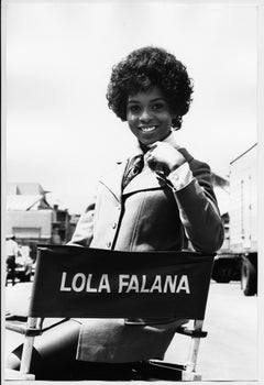 Lola Falana on the Set photographed by Frank Dandridge, 1969.