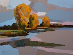 Autumn- 21st Century Contemporary Modern Dutch Landscape Painting