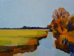 ''Autumn in the Polder'', Contemporary Dutch Oil Painting of a Landscape