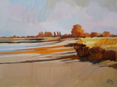 ''Low Tide'', Contemporary Dutch Oil Painting of a Landscape