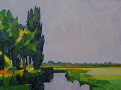 ''The End of the Summer'', Contemporary Dutch Oil Painting of a Landscape