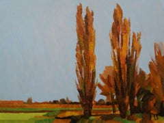 ''Winter in the Polder'', Contemporary Dutch Oil Painting of a Landscape