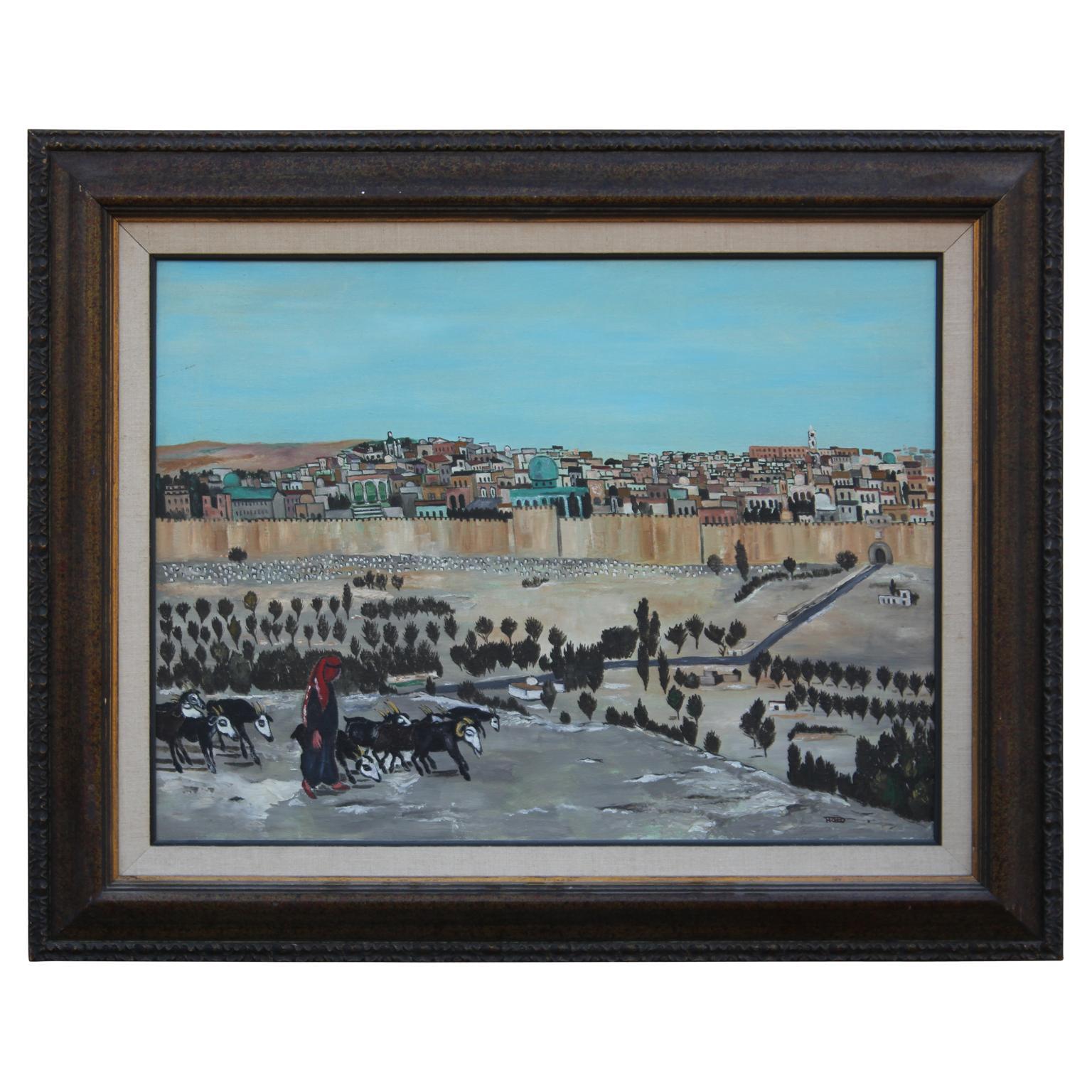 Impressionist Landscape Painting of the Holy City of Jerusalem