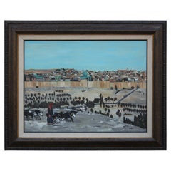 Impressionist Landscape Painting of the Holy City of Jerusalem