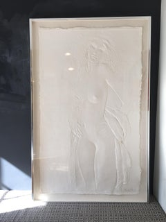 "Mid-Century Frank Gallo ""The Dancer"" 1978 Framed Cast Paper Original"