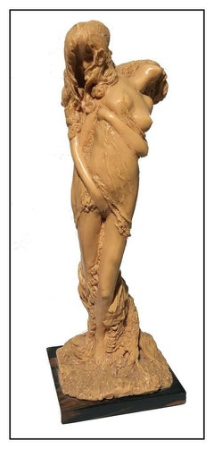 Frank Gallo Original Resin Sculpture Signed Full Round Nude Female Figurative