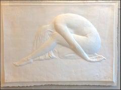 Nude Cast Paper Wall Sculpture