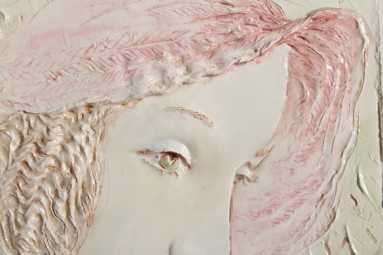 Pink Hat - Sculpture by Frank Gallo
