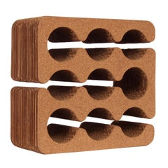 Frank Gehry Cork and Corrugated Cardboard Nine Bottle Wine Rack, circa 1980