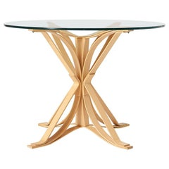 """Frank Gehry """"Face Off"""" Glass Top Dining Table"""