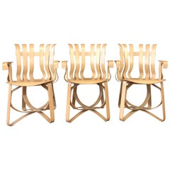 Frank Gehry for Knoll Hat Trick Chairs, Three Available