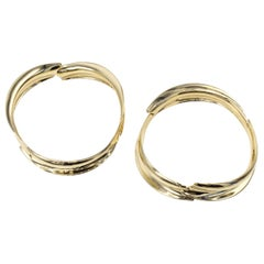 Frank Gehry for Tiffany & Co. Pair of Fish Bangle Bracelets