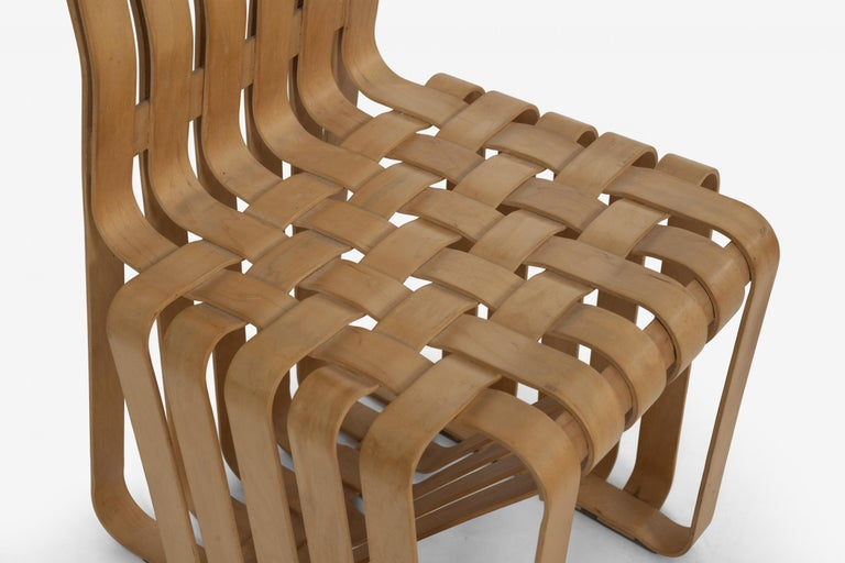 Frank Gehry High-Back High Sticking Chairs for Knoll For Sale 2