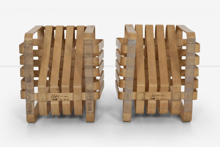 Frank Gehry High-Back High Sticking Chairs for Knoll For Sale 4