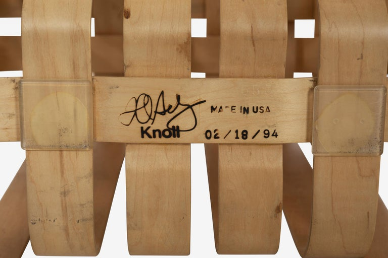 Frank Gehry High-Back High Sticking Chairs for Knoll For Sale 5