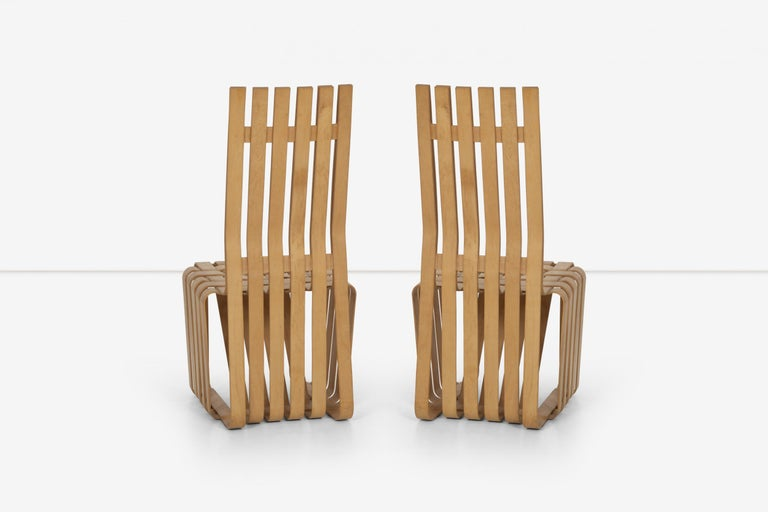 Late 20th Century Frank Gehry High-Back High Sticking Chairs for Knoll For Sale