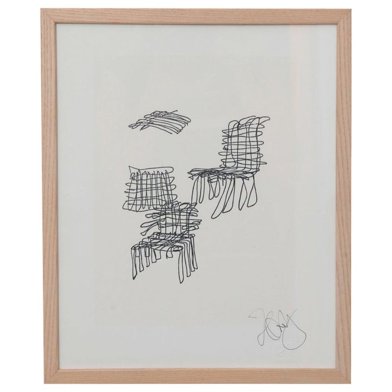 Frank Gehry Rare Signed Lithograph from 1981 For Sale