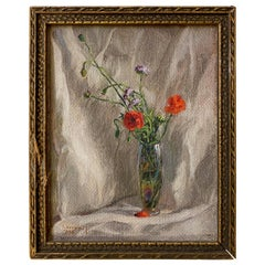 Frank Gervasi 1920s Poppy Floral Painting