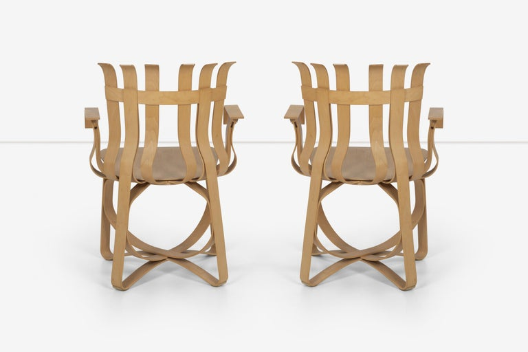Late 20th Century Frank Ghery Hat Trick Arm Chairs for Knoll For Sale