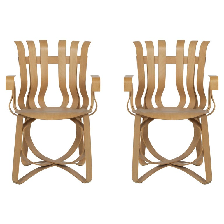Frank Ghery Hat Trick Arm Chairs for Knoll For Sale