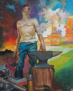 Allegory of Defense Industry (figurative male illustration)