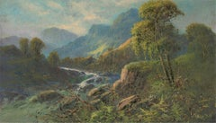 Frank Hider (1861-1933) - Signed Early 20th Century Oil, A Stream from the Hills
